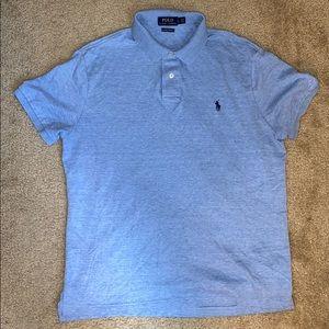 🌀 Polo by Ralph Lauren Men's Blue Button-Up Polo